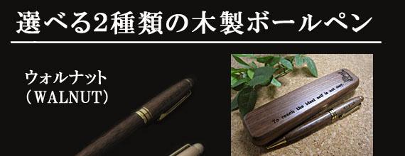 名入れ木製ペン&ペンケース(ウォルナット)