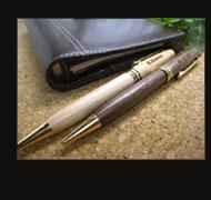 名入れ木製ペン&ペンケース(比較)