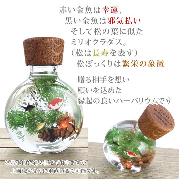 ハーバリウム 金魚鉢 縁起物