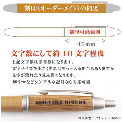名入れ木製ボールペン 刻印概要